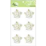 Zva Creative - Flower Embellishments - Galapagos Gardens - White