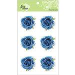 Zva Creative - Flower Embellishments - Galapagos Gardens - Blue