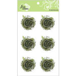 Zva Creative - Flower Embellishments - Galapagos Gardens - Olive