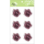 Zva Creative - Flower Embellishments - Galapagos Gardens - Brown