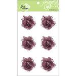 Zva Creative - Flower Embellishments - Galapagos Gardens - Brown