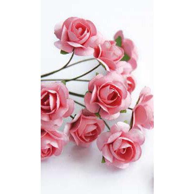 Zva Creative - 5/8 Inch Paper Roses - Bulk - Pink, CLEARANCE