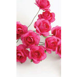 Zva Creative - 5/8 Inch Paper Roses - Bulk - Rosy, CLEARANCE