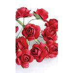 Zva Creative - 5/8 Inch Paper Roses - Bulk - Classic Red, CLEARANCE