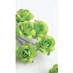 Zva Creative - 5/8 Inch Paper Roses - Bulk - Lime, CLEARANCE