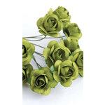 Zva Creative - 5/8 Inch Paper Roses - Bulk - Olive, CLEARANCE