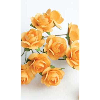 Zva Creative - 5/8 Inch Paper Roses - Bulk - Peach, CLEARANCE