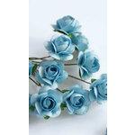 Zva Creative - 5/8 Inch Paper Roses - Bulk - Soft Blue, CLEARANCE