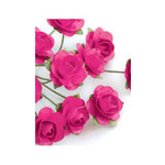 Zva Creative - 7/8 Inch Paper Roses - Bulk - Rosy, CLEARANCE