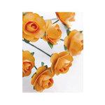 Zva Creative - 7/8 Inch Paper Roses - Bulk - Peach