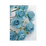 Zva Creative - 7/8 Inch Paper Roses - Bulk - Soft Blue, CLEARANCE