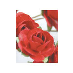 Zva Creative - 1.25 Inch Paper Roses - Bulk - Classic Red, CLEARANCE