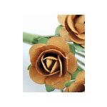 Zva Creative - 1.25 Inch Paper Roses - Bulk - Ginger, CLEARANCE