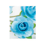 Zva Creative - 1.25 Inch Paper Roses - Bulk - Soft Blue, CLEARANCE