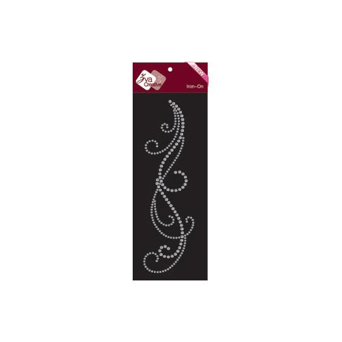 Zva Creative - Bling - Iron On Crystals - Clear - Two