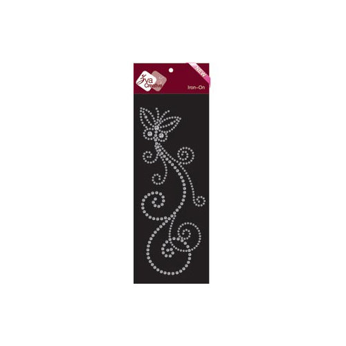 Zva Creative - Bling - Iron On Crystals - Clear - Five