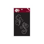 Zva Creative - Bling - Iron On Crystals - Clear - Six