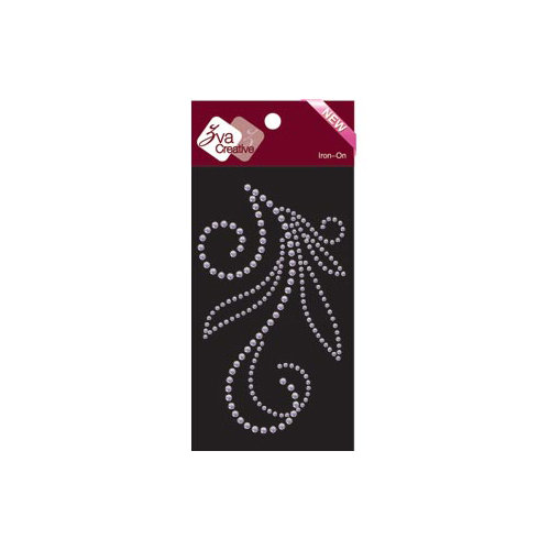 Zva Creative - Bling - Iron On Crystals - Clear - Eight