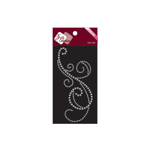 Zva Creative - Bling - Iron On Crystals - Clear - Nine