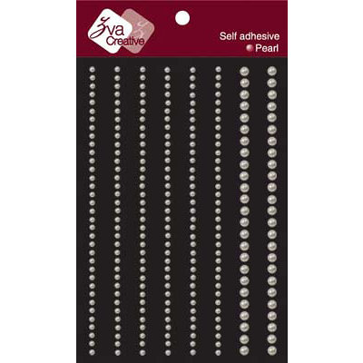 Zva Creative - Self-Adhesive Pearls - Lines - White