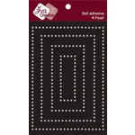 Zva Creative - Self-Adhesive Pearls - Rectangular Frame - White
