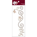 Zva Creative - Self-Adhesive Pearls - Thriving - Champagne Pearl and Crystal, CLEARANCE