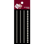 Zva Creative - Self-Adhesive Pearls - Basic Lines - White