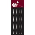 Zva Creative - Self-Adhesive Pearls - Basic Lines - .3 cm - White, CLEARANCE