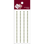 Zva Creative - Self-Adhesive Pearls - Basic Lines - .3 cm - Olive, CLEARANCE