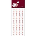 Zva Creative - Self-Adhesive Pearls - Basic Lines - .5 cm - Soft Pink, CLEARANCE