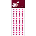 Zva Creative - Self-Adhesive Pearls - Basic Lines - .5 cm - Rosy, CLEARANCE