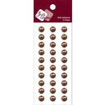 Zva Creative - Self-Adhesive Pearls - Basic Lines - .8 cm - Chocolate, CLEARANCE