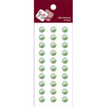 Zva Creative - Self-Adhesive Pearls - Basic Lines - .8 cm - Lime, CLEARANCE
