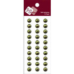 Zva Creative - Self-Adhesive Pearls - Basic Lines - .8 cm - Olive, CLEARANCE