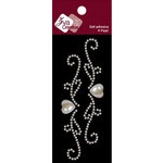 Zva Creative - Self-Adhesive Pearls - Small - Heart Flourish - White