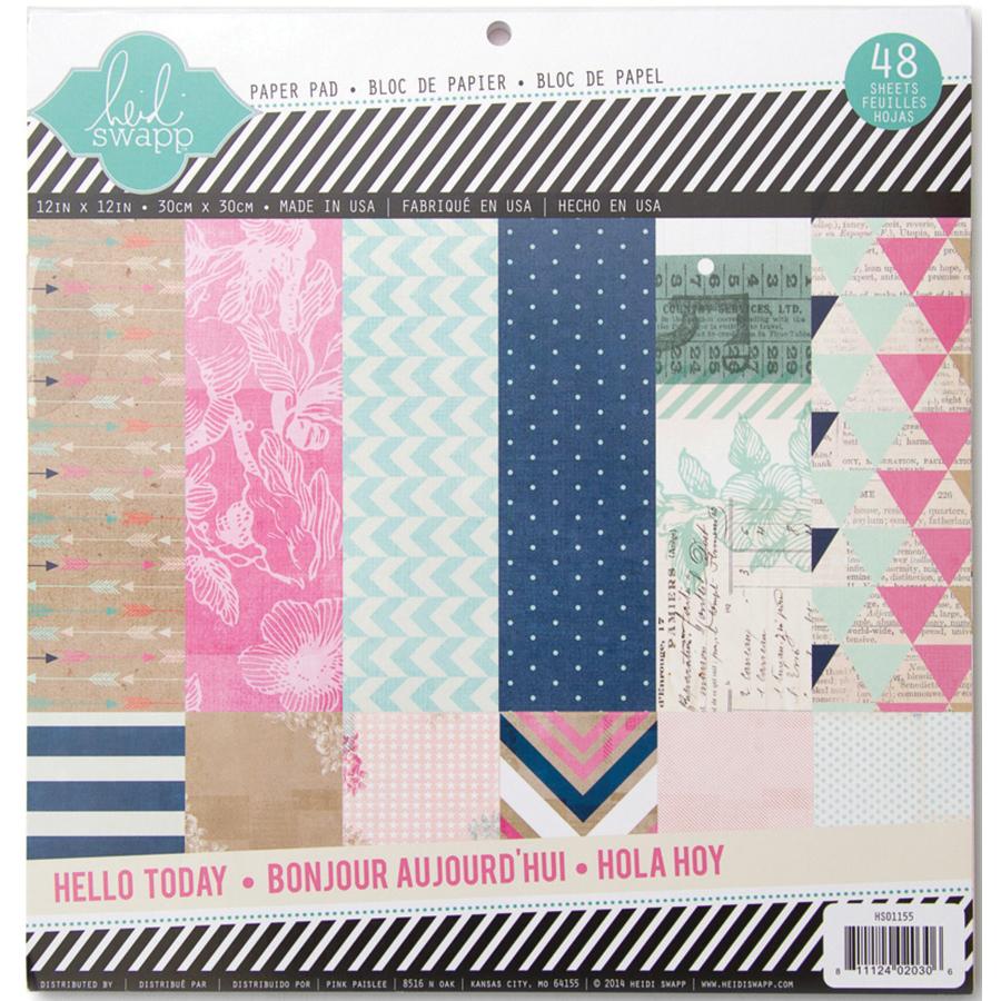Heidi Swapp Hello Today Memory Planner Glitter 12 X 12 Paper Pad
