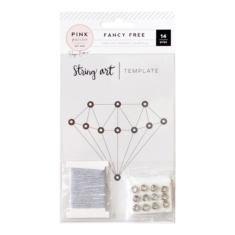 Pink Paislee Fancy Free Collection String Art Template Diamond
