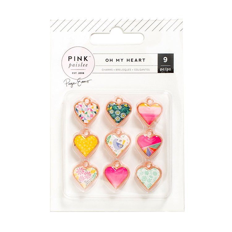 Pink Paislee - Oh My Heart Charms