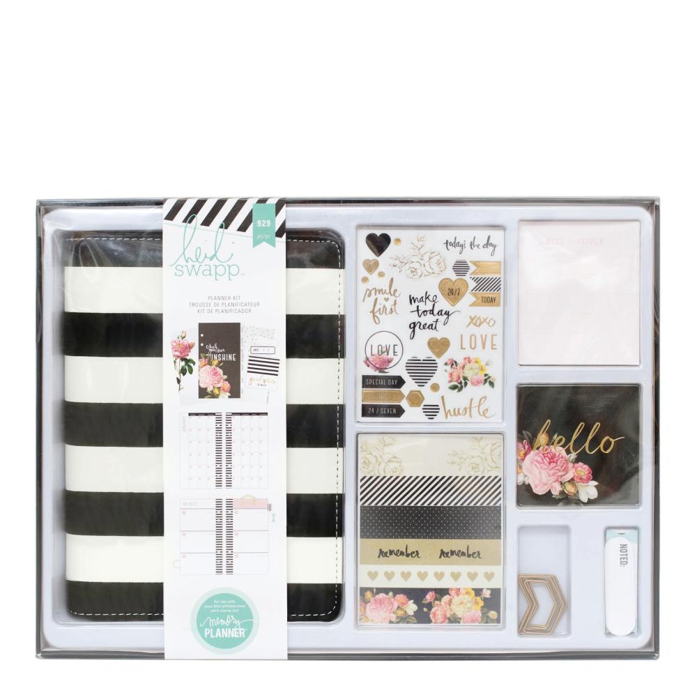 Heidi Swapp Black And White Memory Planner Kit