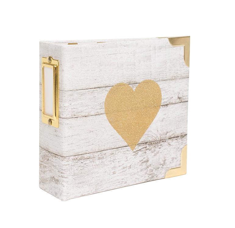 Becky Higgins Project Life Heidi Swapp Glitter Heart 4 X 4 D Ring Album