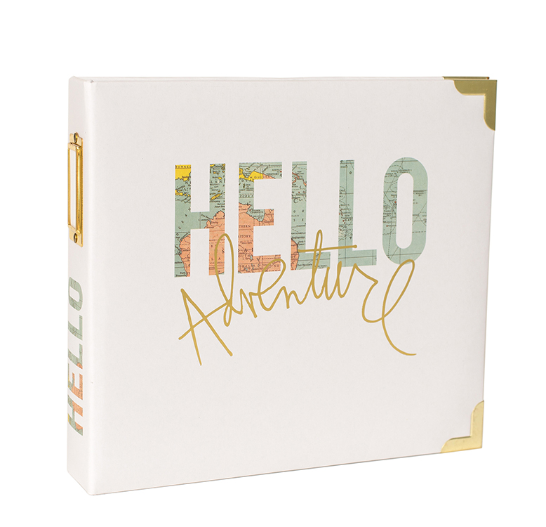 Becky higgins project life heidi swapp hello 8 x 8 d ring for American crafts page protectors 8x8