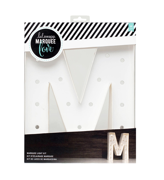 Heidi swapp marquee love letter m 12 inch marquee kit for Heidi swapp marquee letters 12 inch