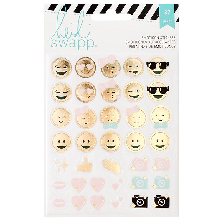Heidi swapp memory planner clear stickers emoticon