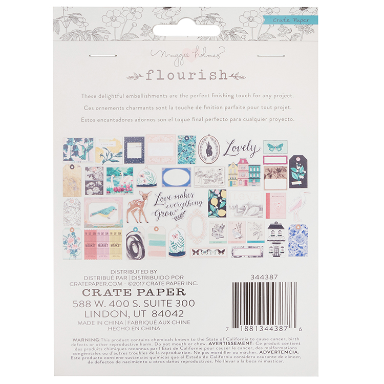 Crate Paper Flourish Ephemera 40 pc set