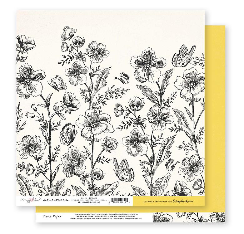 Crate Paper Exclusive Flourish / Skylark 12x12 in