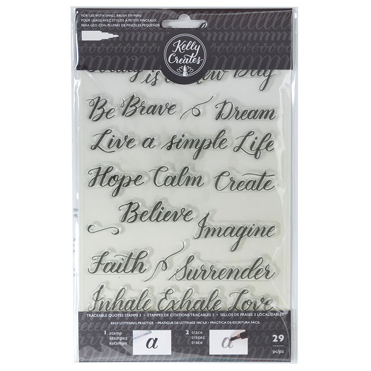 Kelly Creates Quotes 3 Traceable Stamps