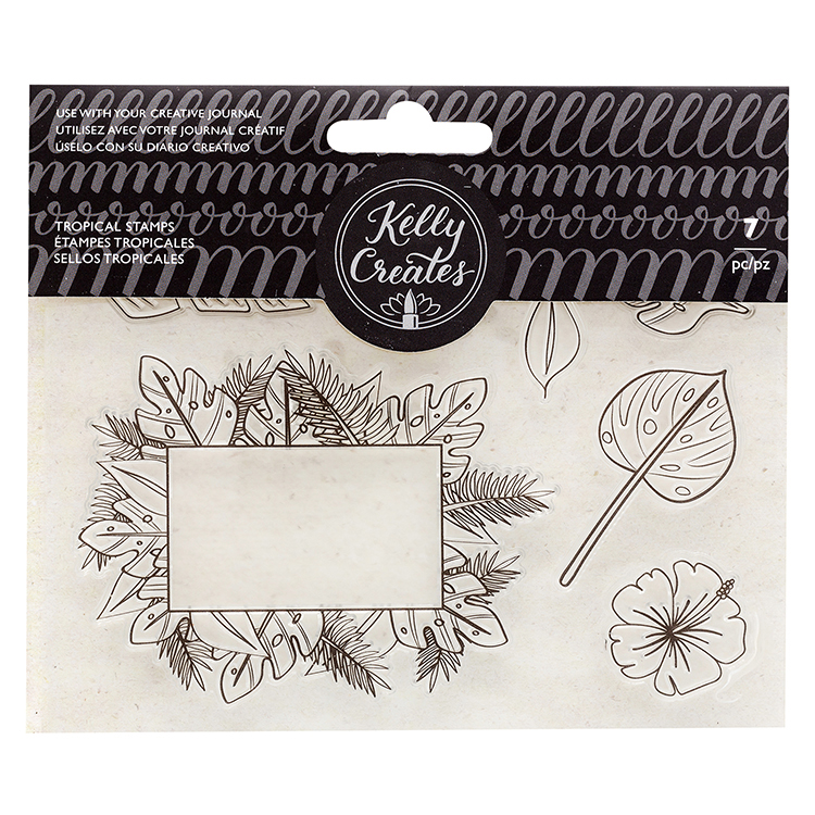 Kelly Creates Tropicals Traceable Stamps