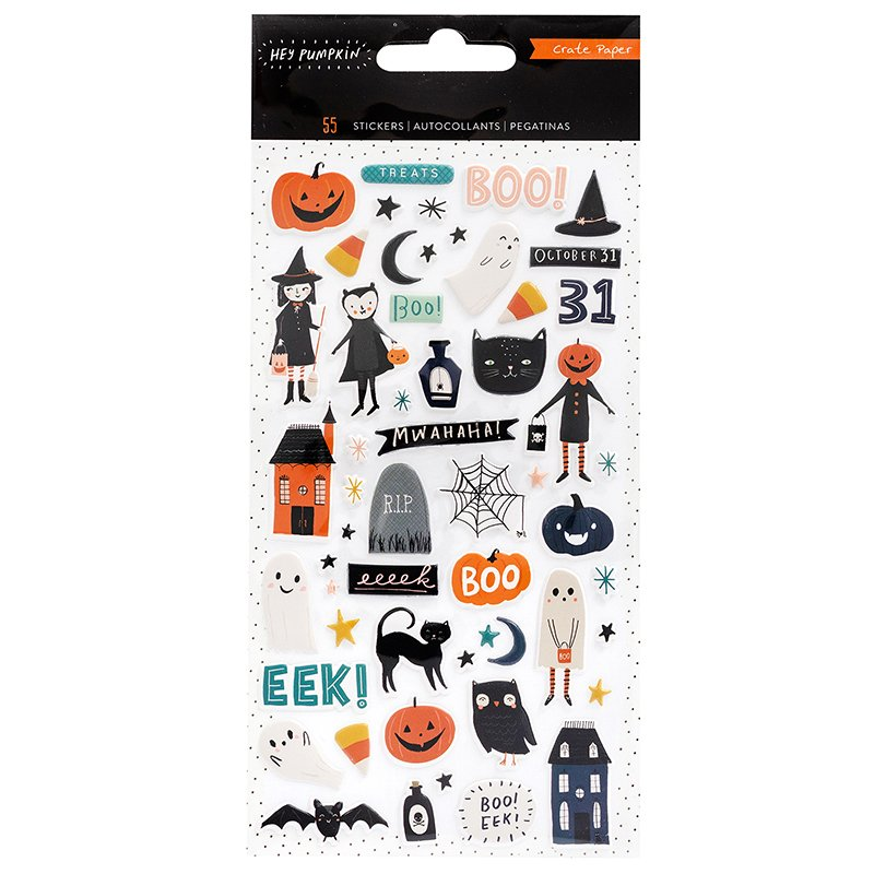 Crate Paper Hey Pumpkin Puffy Stickers