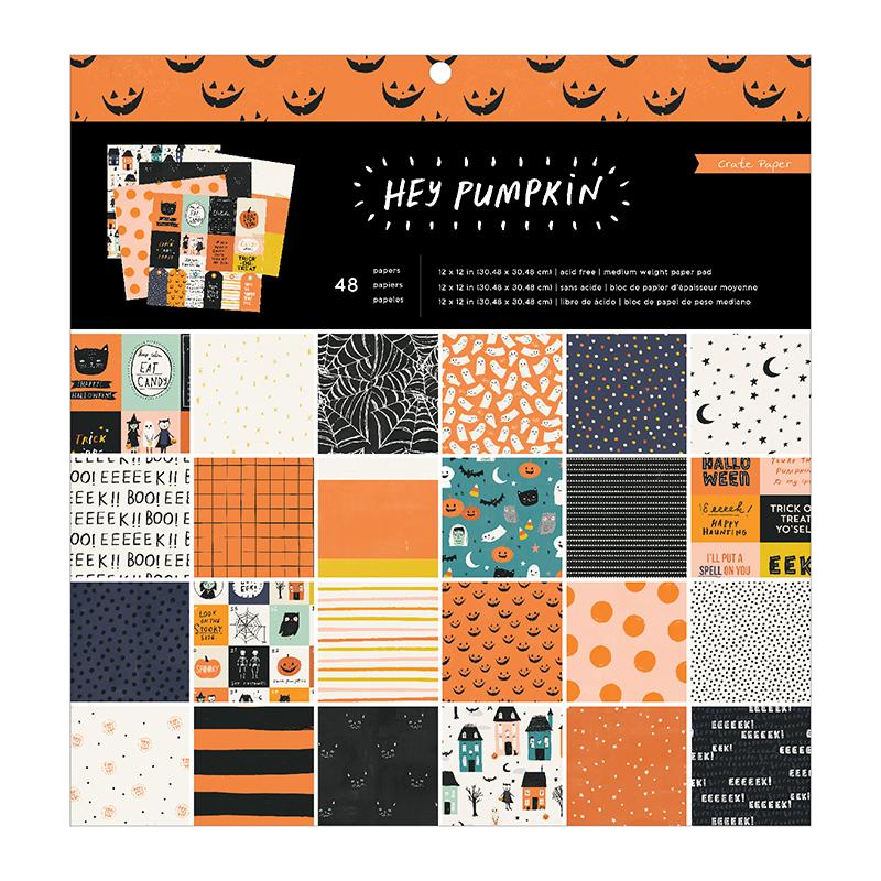 Crate Paper Hey Pumpkin 12x12 inch Paper Pad