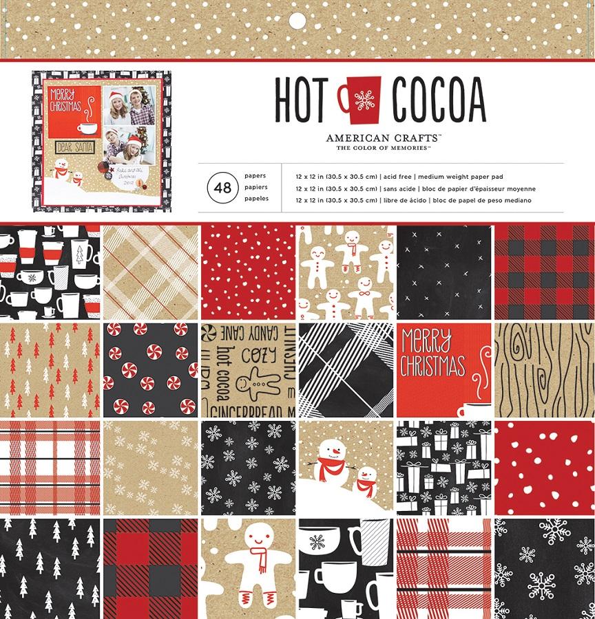american crafts hot cocoa 12 x 12 paper pad
